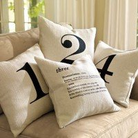 Decorating with Numbers: Pillow Talk