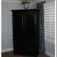Armoire Over Hall: Getting Organized
