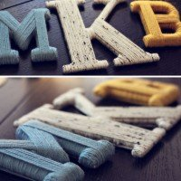 Yarn Wrapped Letters! Adorable.