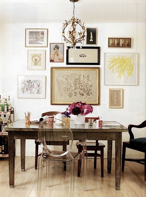 photo collage eclectic dining room