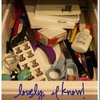 Junk Drawer Makeover: a cheap solution