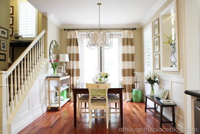 Do it Yourself: Striped Drapes Tutorial