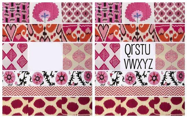 pink alphabet art