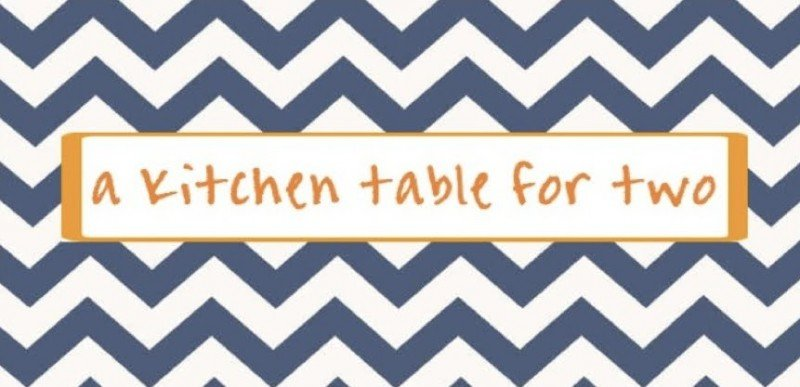 a kitchen table for two