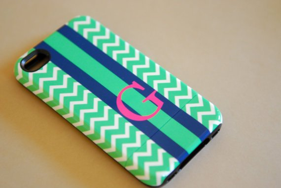 PRETTY SMITTEN Home & Accessories - Personalized iPhone Case, Rugby Stripe