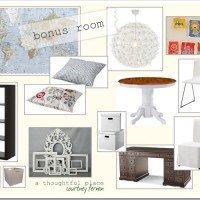 Bonus Room Design Board