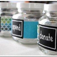 DIY Money Jars: Save, Spend, Donate