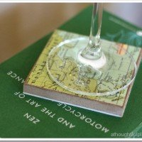 DIY Map Coasters: Country Living Knock-Off