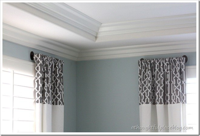 master bedroom update: diy drapes {sort of} - a thoughtful place