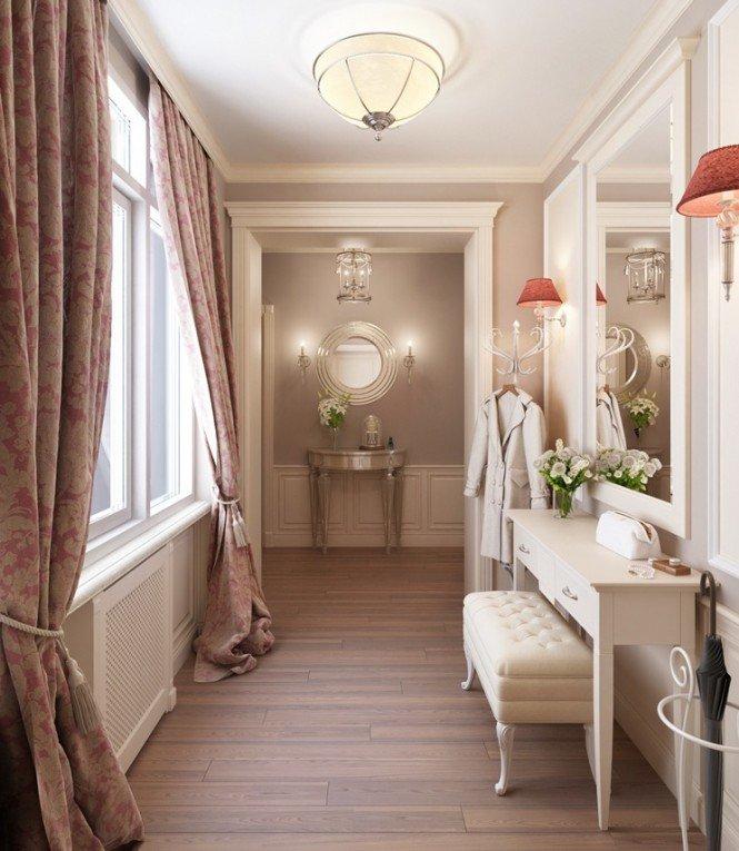 Taditional feminine hallway dressing room