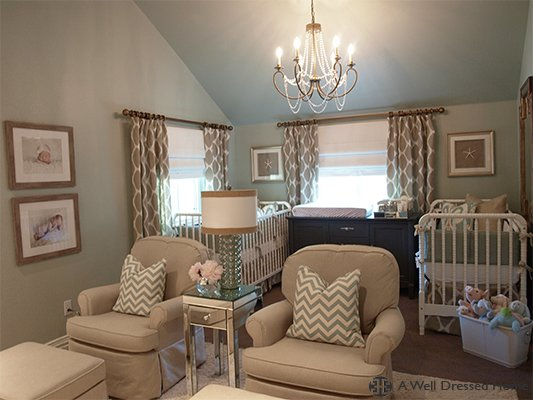 Friday Eye Candy: Elegant Nursery - A Thoughtful Place on well dressed home christmas, wall decal designs, well dressed windows, furniture designs, well dressed home decor, well dressed family, wall frame designs, well dressed shoes,