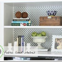 Fabric Lined Bookcase & Styling Tips