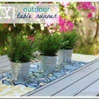 {DIY} Outdoor Runner & Patio Space