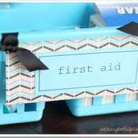 Organized Kitchen Cabinet Under $5.00 {Medicine & First Aid}