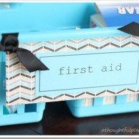 Organized Kitchen Cabinet Under $5.00 {Medicine & First Aid}