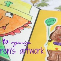 How to Keep & Organize Children's Artwork
