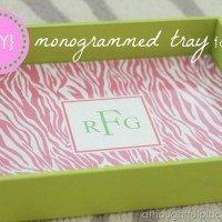 {DIY} Monogrammed Tray for $5.00
