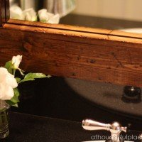 Powder Room Reveal {Distressed Mirror Frame}