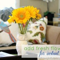 Adding Quick Color: Fresh Flowers