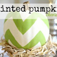 Painted Pumpkins {Fall Vignette}