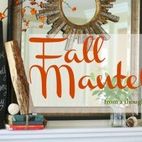 Fall Mantel {2012}