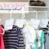 Closet Organization {Outfits Ready for School}