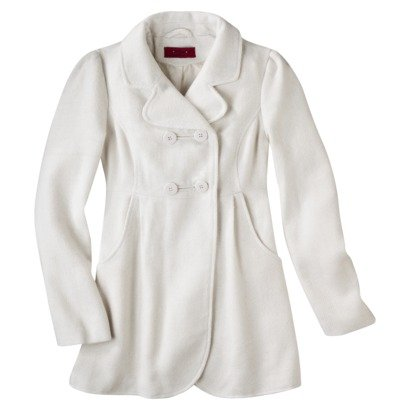 Coffee Shop Junior's Double Breasted Wool Peacoat -Assorted Colors