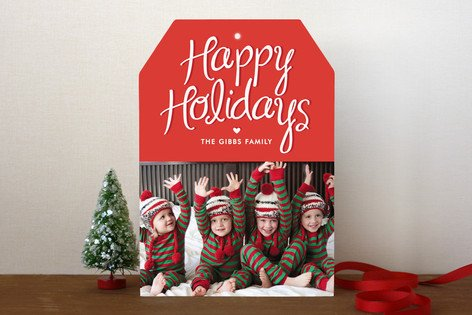Happy Heart Holiday Photo Cards