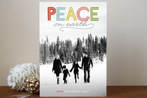 Modern Headline Holiday Postcards