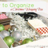 Christmas Wrapping Box