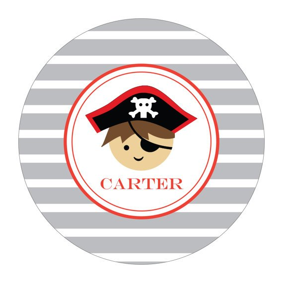 Personalized Melamine Plate - PIRATE Collection