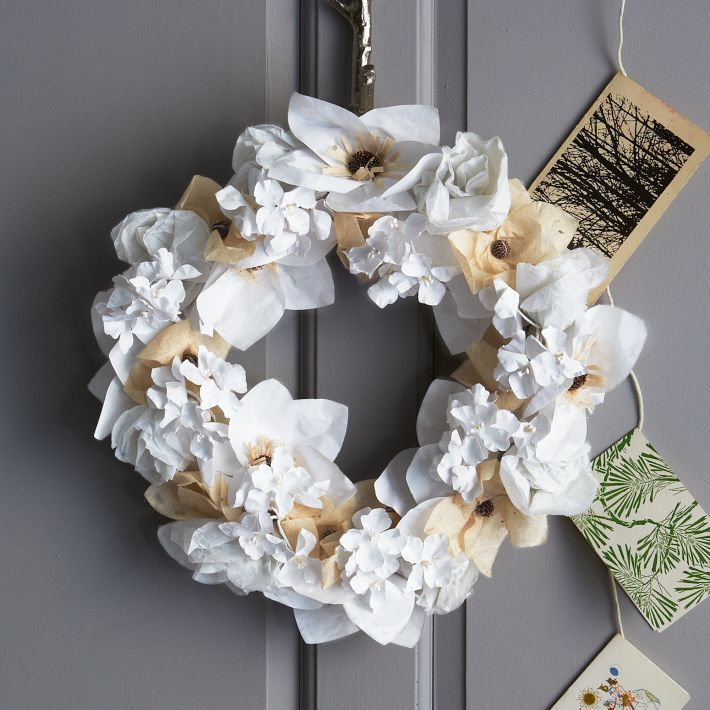 Paper Flower Wreath