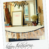 Be Thankful {DIY Thanksgiving Banner}