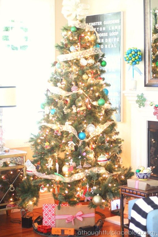 Our colorful christmas tree a thoughtful place