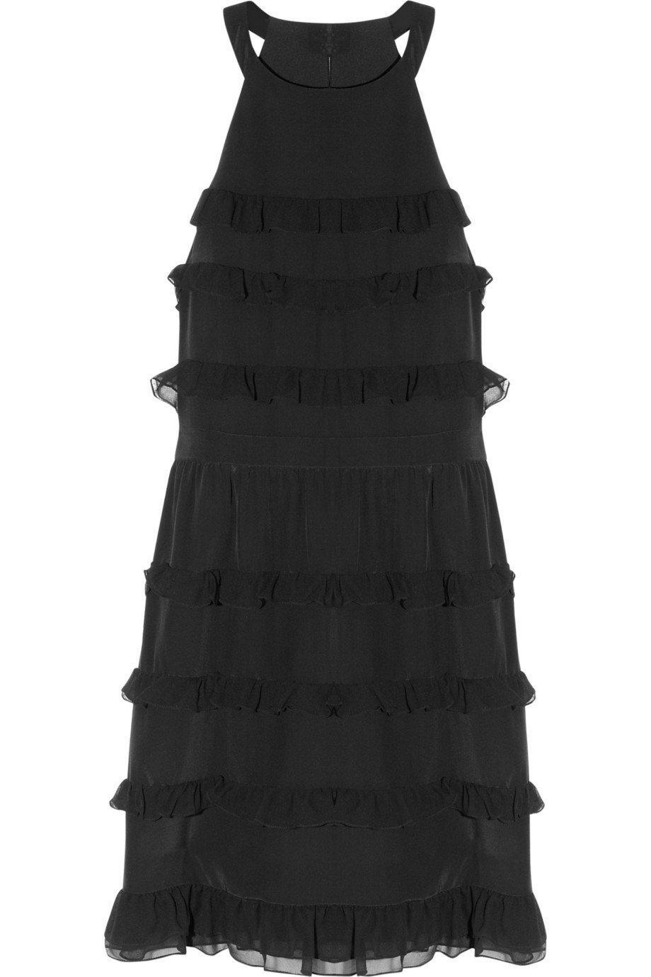 Ruffled silk mini dress by Tibi
