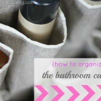 {How to Organize} Under the Bathroom Sink