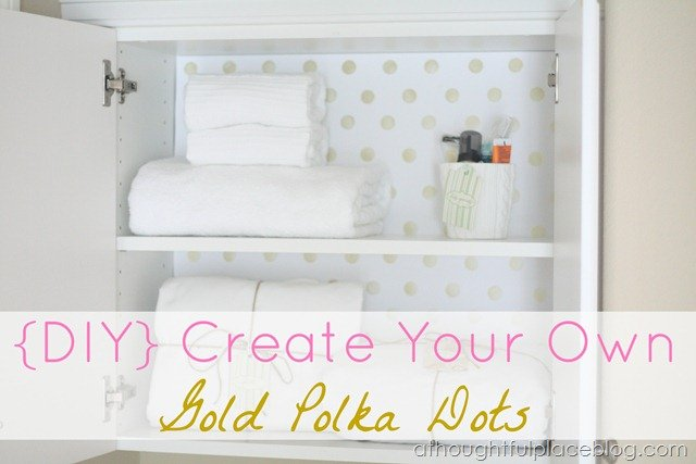 Awesome  DIY Gold Dots from A Thoughtful Place