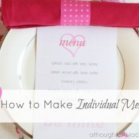 {DIY} Individual Menu Tutorial