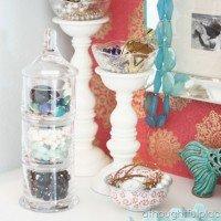 Jewelry Storage {Repurposing the Apothecary Jar}