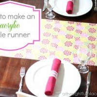 How to Make a Table Runner {Acrylic Love}