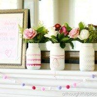{DIY} Valentine Mantel