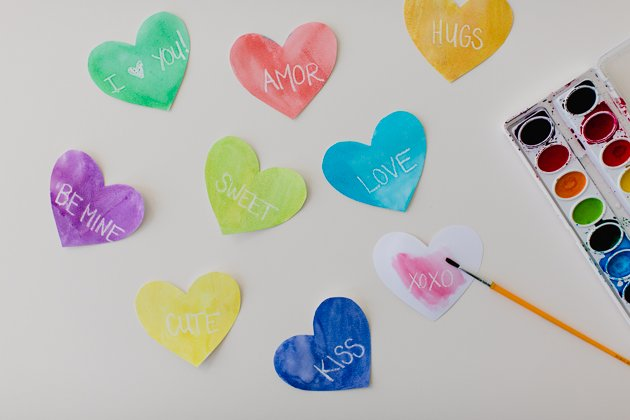 Conversation Hearts | Simple Valentine's Day Paper Craft