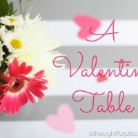 Valentine Table {Sweethearts & Stripes}