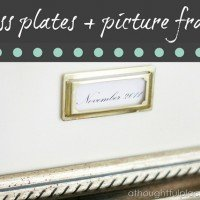 Brass Plates + Picture Frames