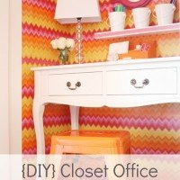 Tangerine Room Makeover: The Closet Office