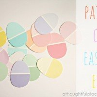 {DIY} Easter Eggs Using Paint Chips