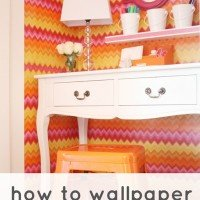 How To Wallpaper with Wrapping Paper