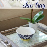 How to Create A Chic Tray {Rustic + Glam}