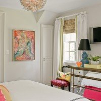 Friday Eye Candy: White Walls + Pop of Color Art