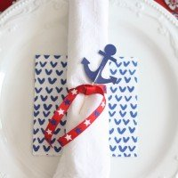 Fourth of July Table | Pattern Mixing